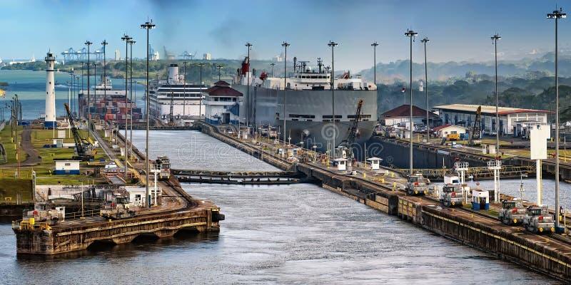 канал Панама стоковые изображения rf