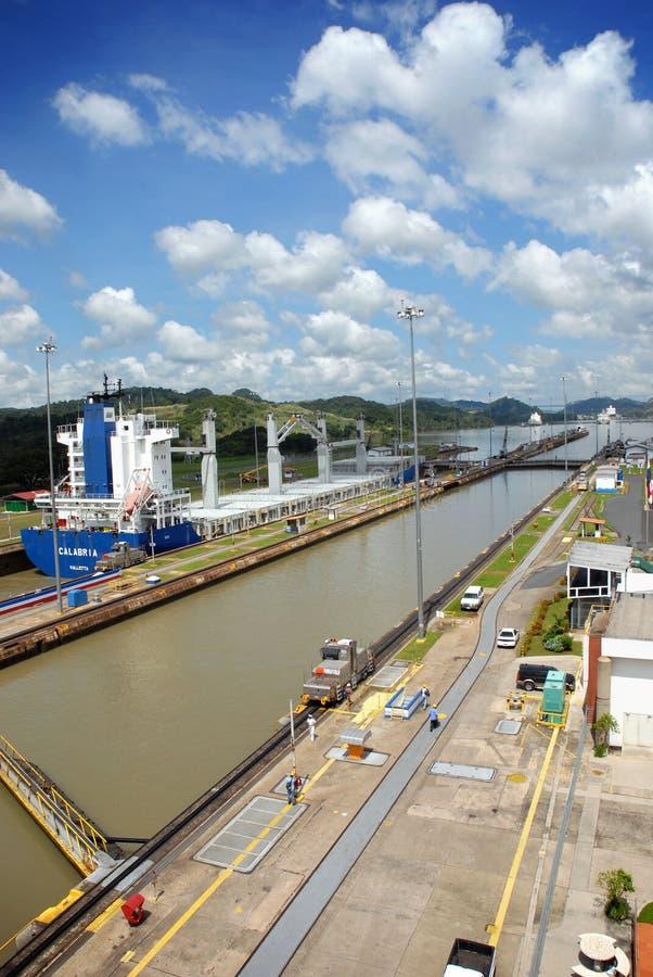 канал Панама стоковая фотография