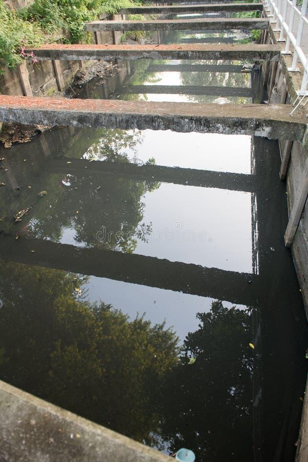 Канал сточных водов конкретный стоковые фотографии rf