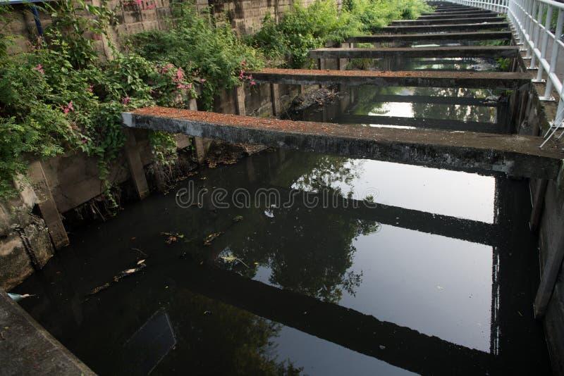 Канал сточных водов конкретный стоковая фотография