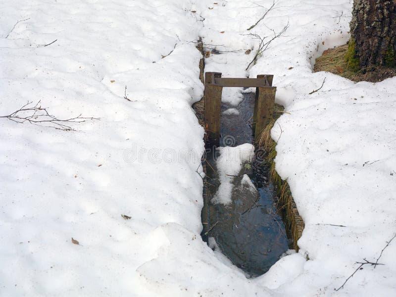 Канал с водой melt стоковые изображения