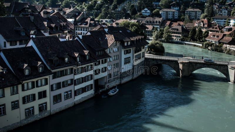 Канал через Bern стоковое изображение