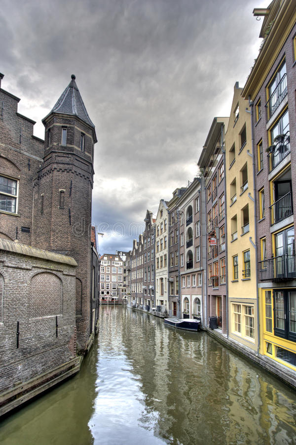 канал amsterdam стоковое фото