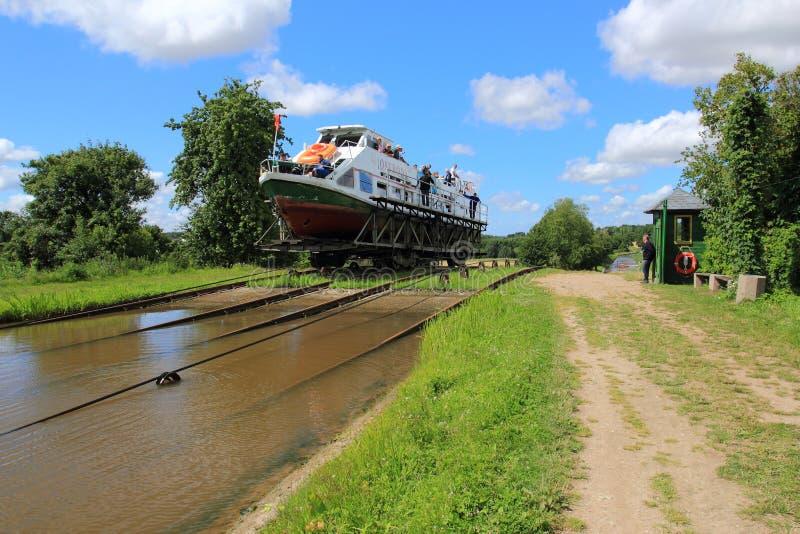Канал Elblag, пандус Katy в Польше стоковое фото rf