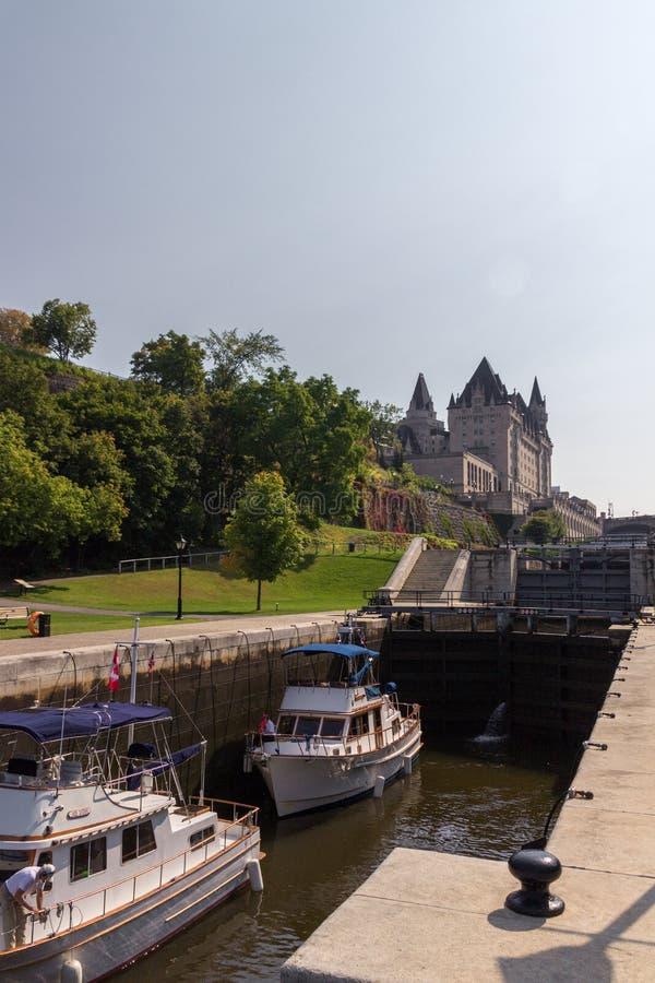 Канал Rideau в Оттаве Канаде стоковые фото