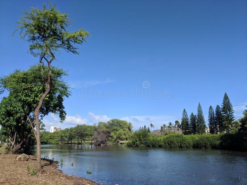 Канал Wai алы на славный день стоковое фото rf