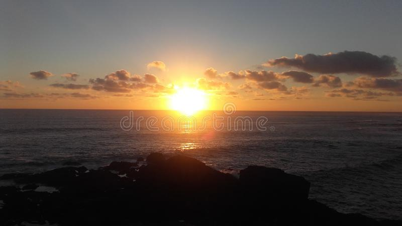 Канарские острова захода солнца стоковое изображение