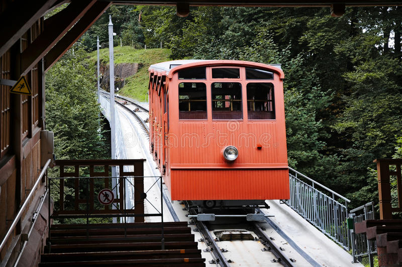 Канатная железная дорога стоковые фотографии rf