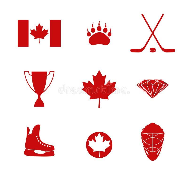Канада Комплект значка иллюстрация вектора