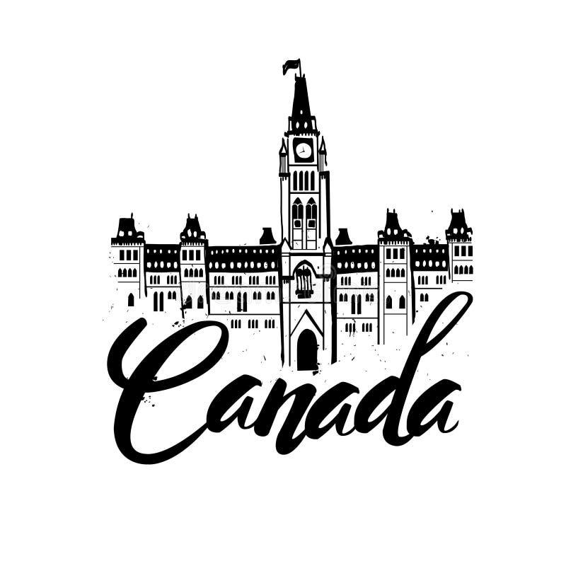 Канада, различная форменная иллюстрация вектора избитой фразы иллюстрация штока