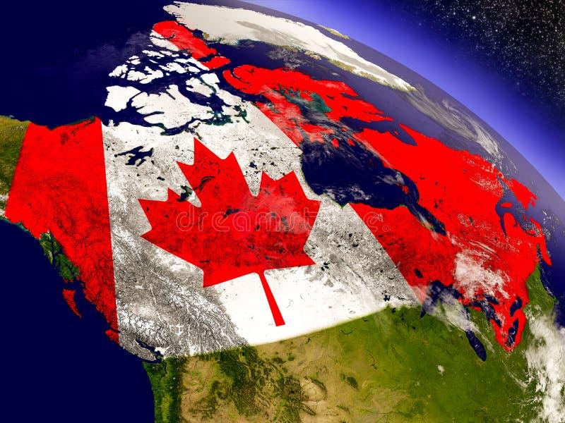 Download Канада с врезанным флагом на земле Иллюстрация штока - иллюстрации насчитывающей канадско, флаг: 81808088