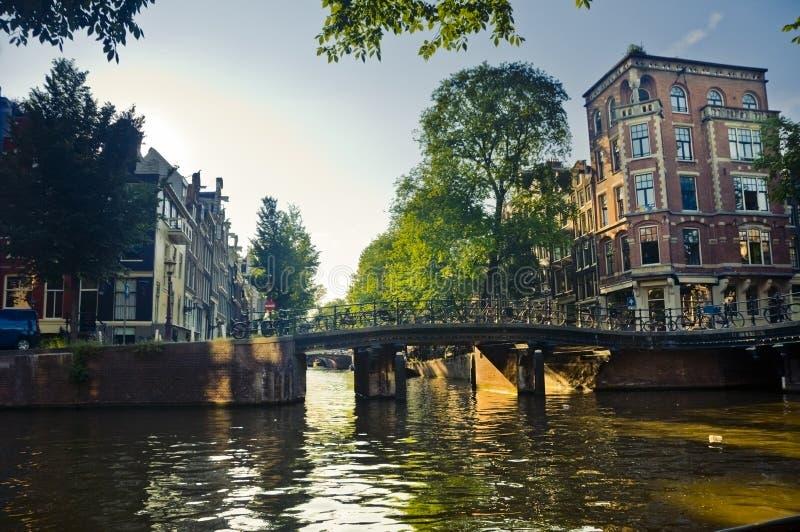 Канал в Амстердам стоковая фотография