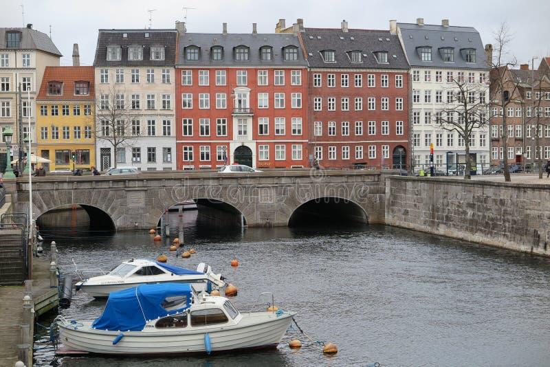Канал в Копенгаген стоковое фото rf