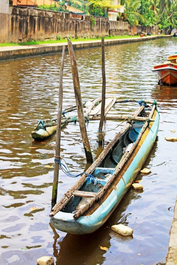 Канал Гамильтона, Negombo Шри-Ланка стоковое изображение