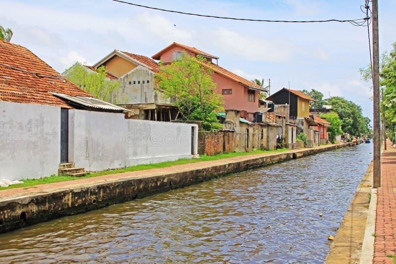 Канал Гамильтона, Negombo Шри-Ланка стоковые фотографии rf