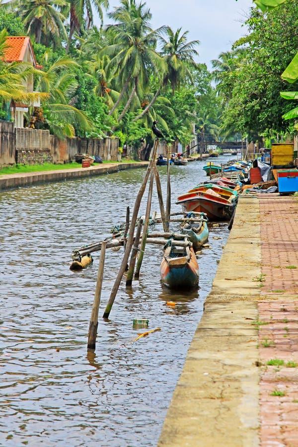 Канал Гамильтона, Negombo Шри-Ланка стоковое фото rf