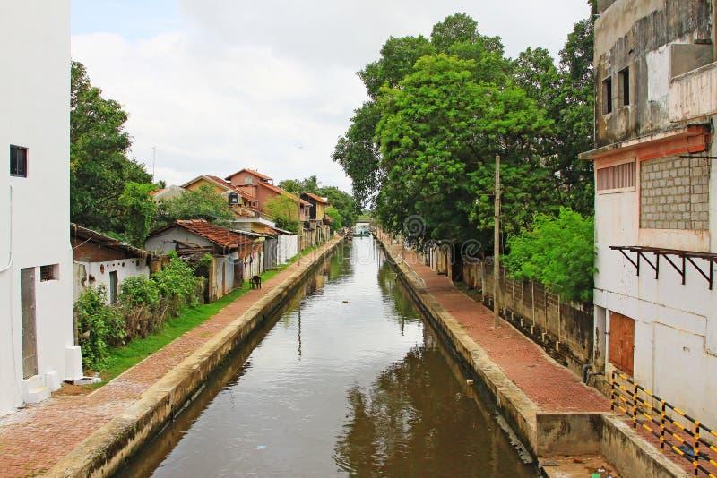 Канал Гамильтона, Negombo Шри-Ланка стоковые изображения