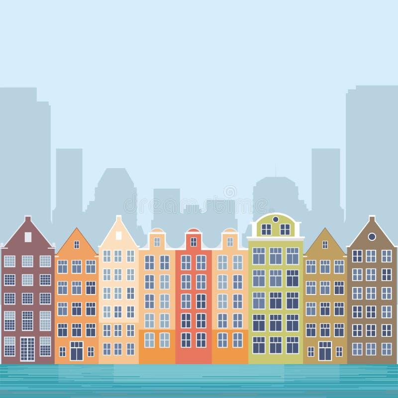 Канал города бесплатная иллюстрация