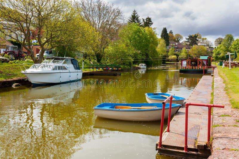 Канал Девон Tiverton стоковая фотография