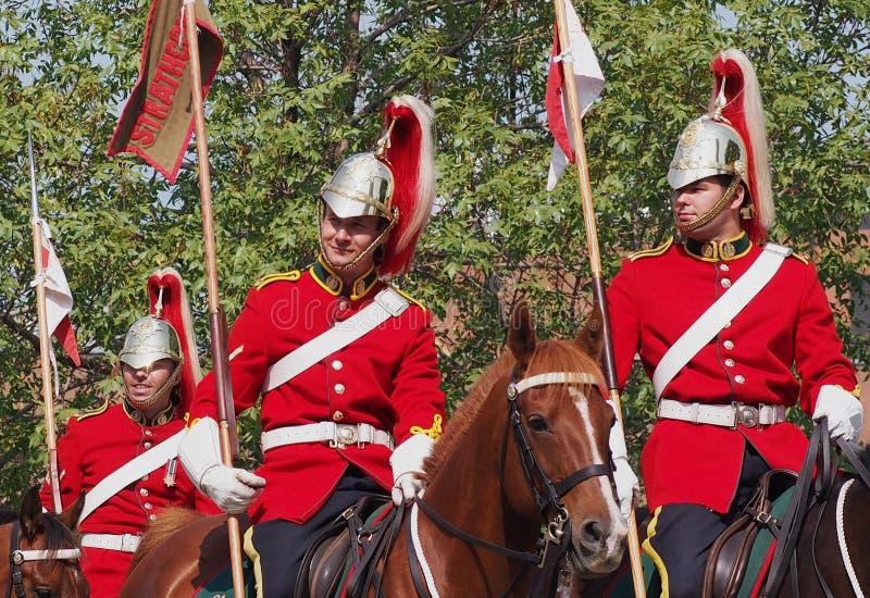 Канадец принуждает Лошадь Полк лорда Strathcona's стоковые фотографии rf