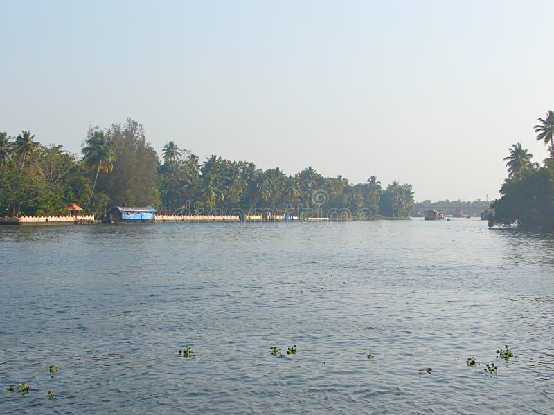 Канал подпора, Керала, Индия стоковая фотография rf