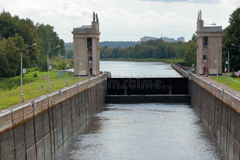 Канал реки Москв-Волги стоковое фото
