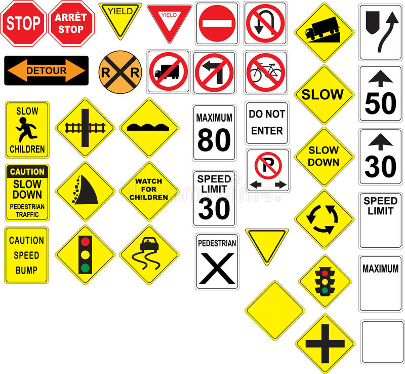 Канадские дорожные знаки бесплатная иллюстрация