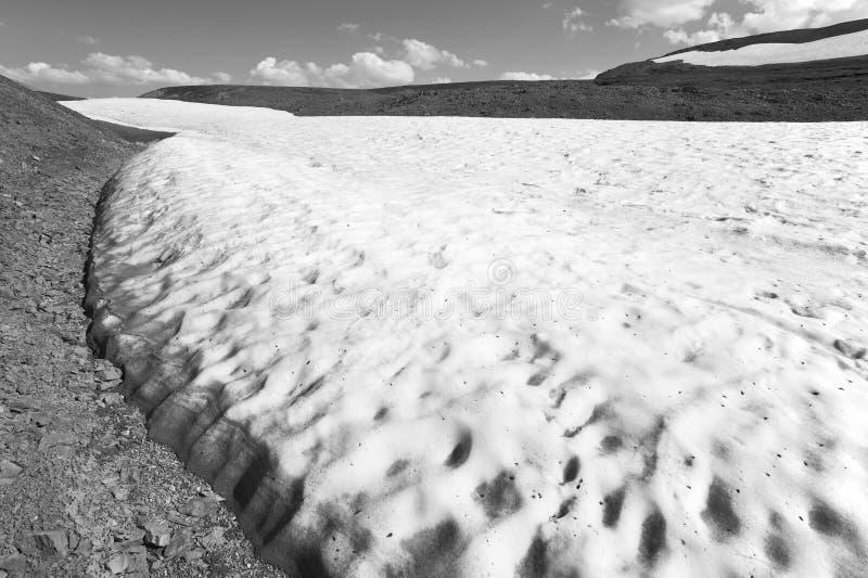 Канадский ландшафт с ледником Бульвар Icefields альбатроса смогите стоковые изображения