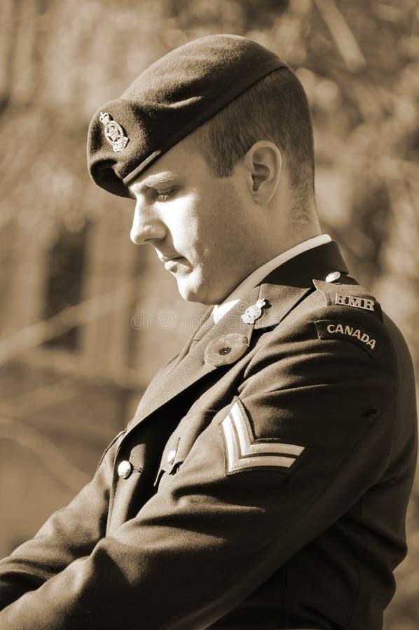 канадский воин стоковая фотография