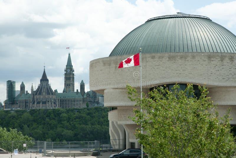 Канадский музей истории - Оттавы - Канады стоковые фото