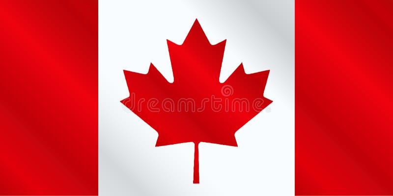 Канадский лоск флага бесплатная иллюстрация