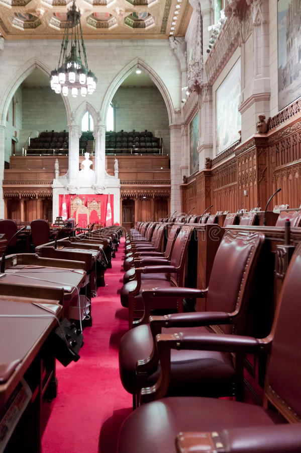 Канадский парламент: сенат стоковая фотография rf