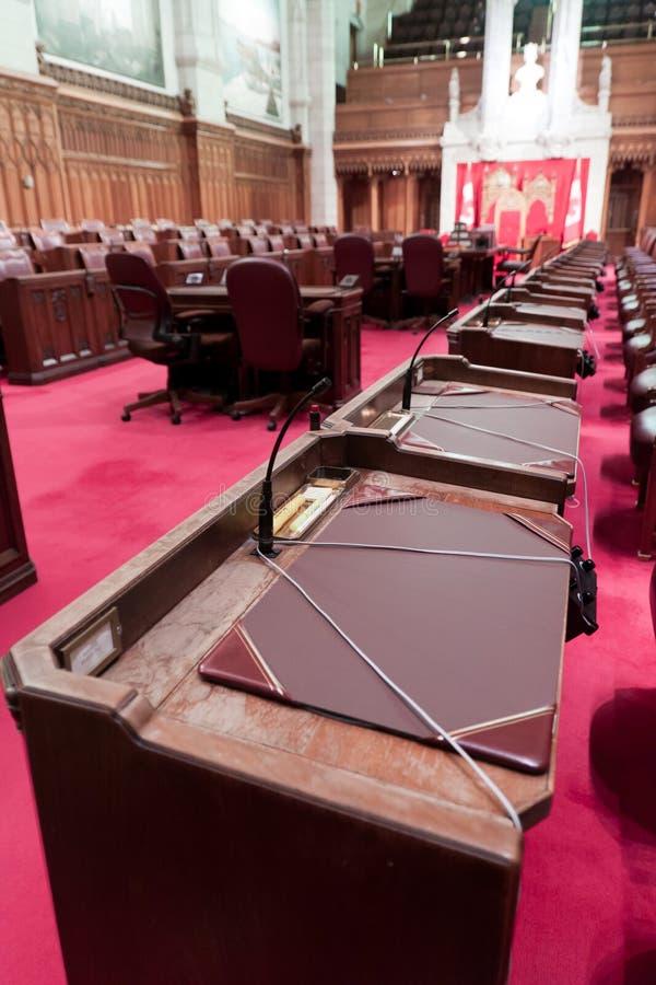 Канадский парламент: сенат стоковое изображение