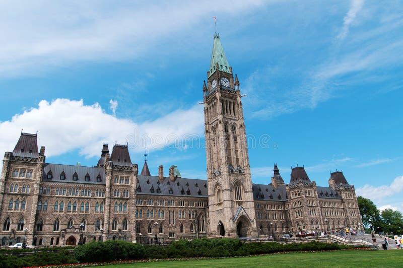 Канадское здание парламента на Оттаве стоковое фото rf