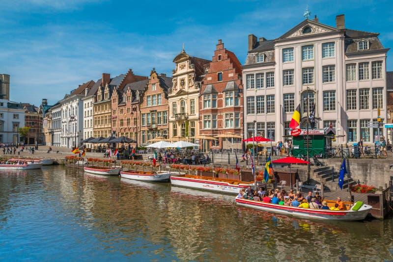 Каналы Гента в Бельгии стоковая фотография