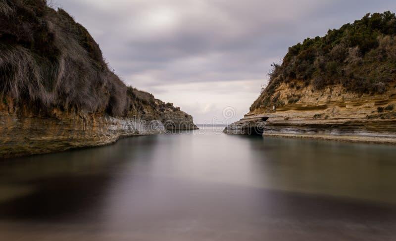 Канал amourthe ` канала d влюбленности в Корфу Греции стоковая фотография rf