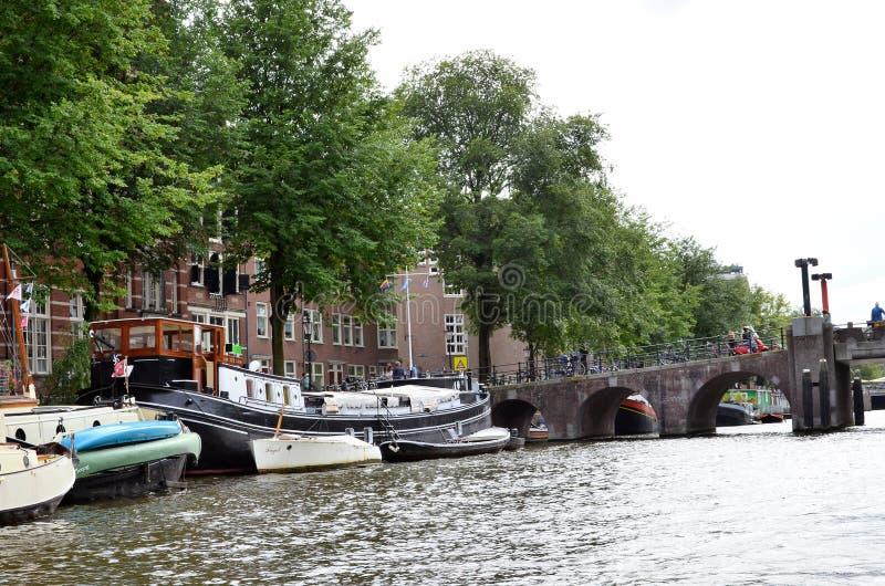 канал amsterdam стоковые фото