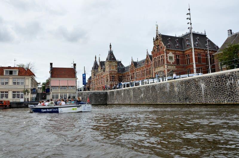 канал amsterdam стоковые изображения