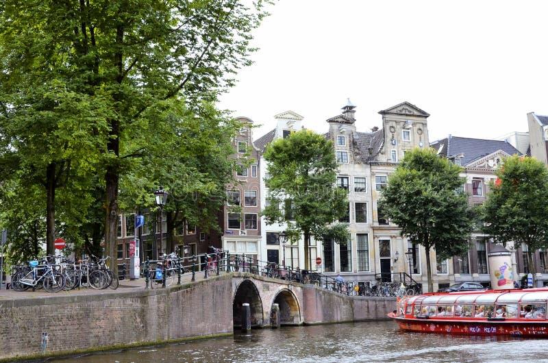 канал amsterdam стоковые изображения rf