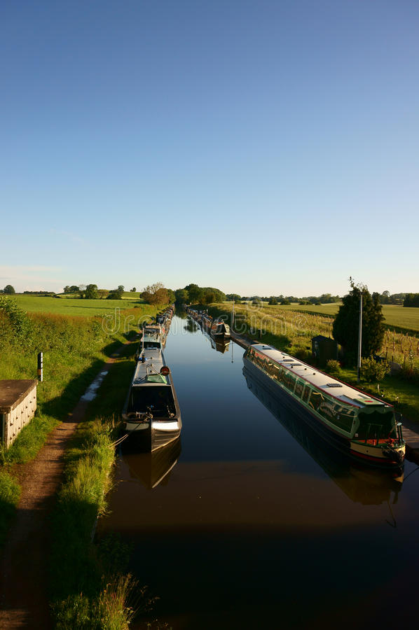 Канал barges соединение Norbury стоковое изображение rf