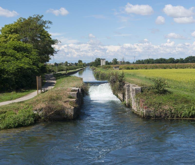 Канал Bereguardo (IMilan) стоковая фотография