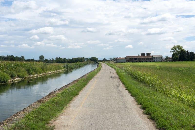 Канал Bereguardo (IMilan) стоковые изображения