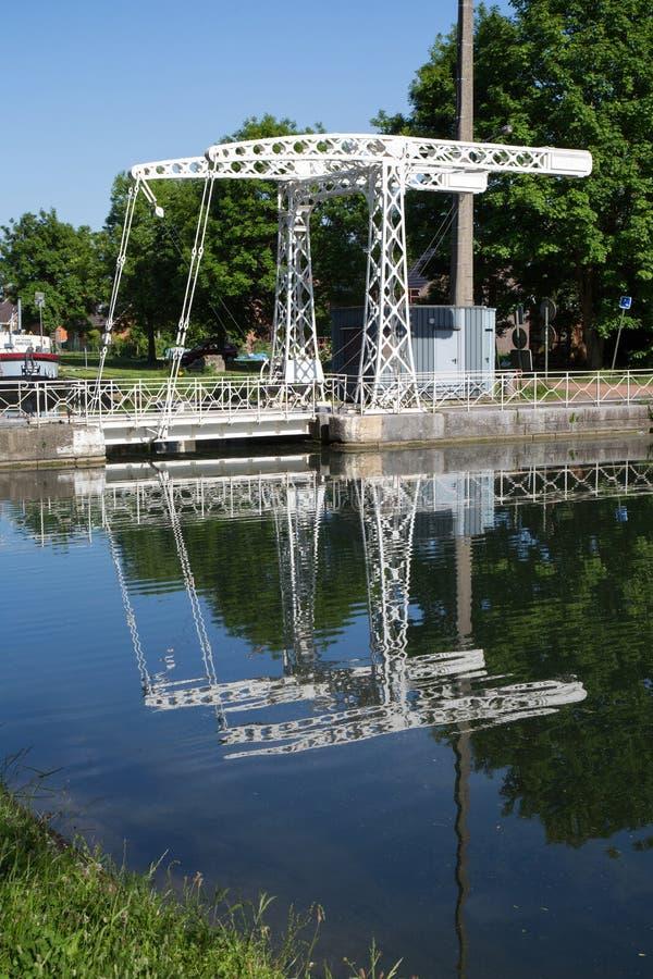Канал du Центр - Strepy-Bracquegnies стоковое фото