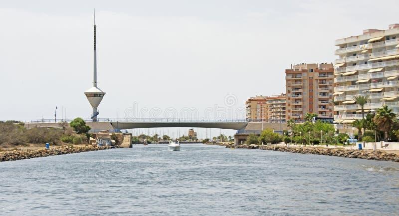 Канал mar Menor, Испания стоковое фото