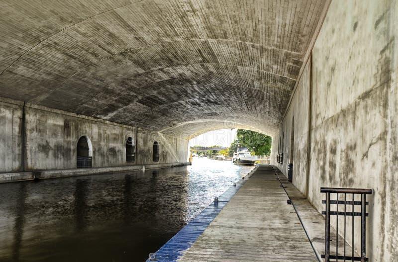 Канал Rideau в Оттаве стоковые изображения