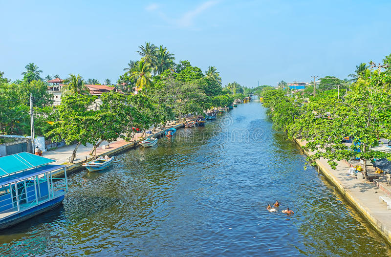 Канал ` s Гамильтона между Коломбо и Negombo стоковое изображение rf
