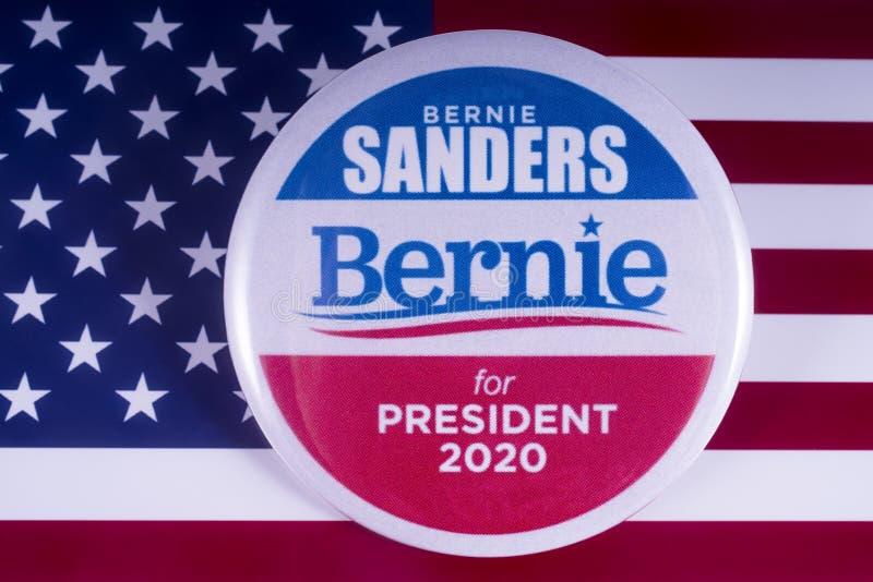 Кандидат в президенты 2020 шлифовальных приборов Bernie стоковое изображение