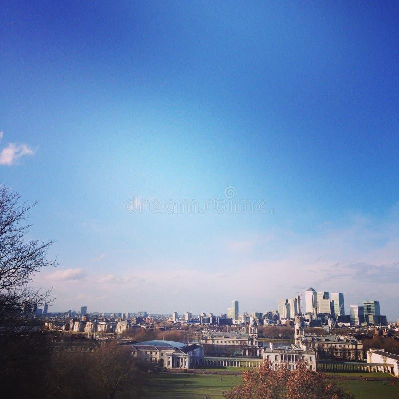 Канереечный горизонт причала, Лондон стоковая фотография rf