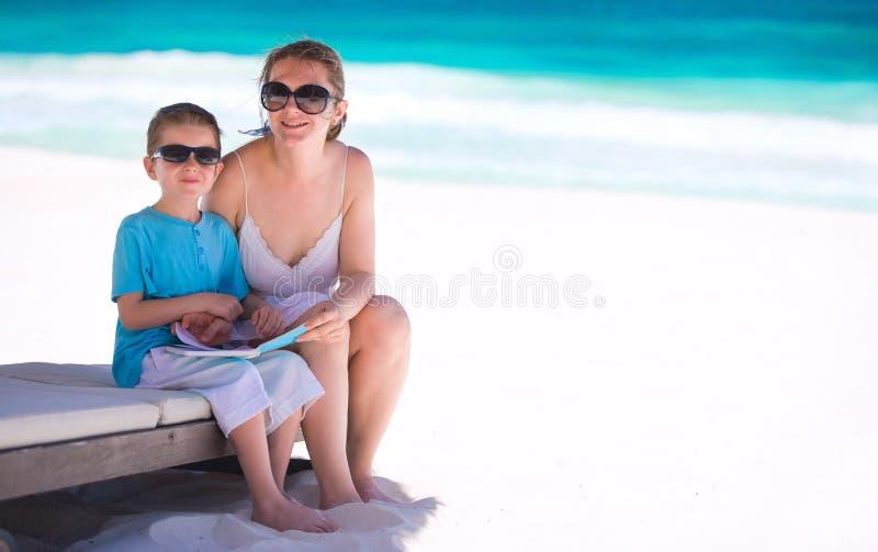 каникула сынка мати стоковая фотография rf