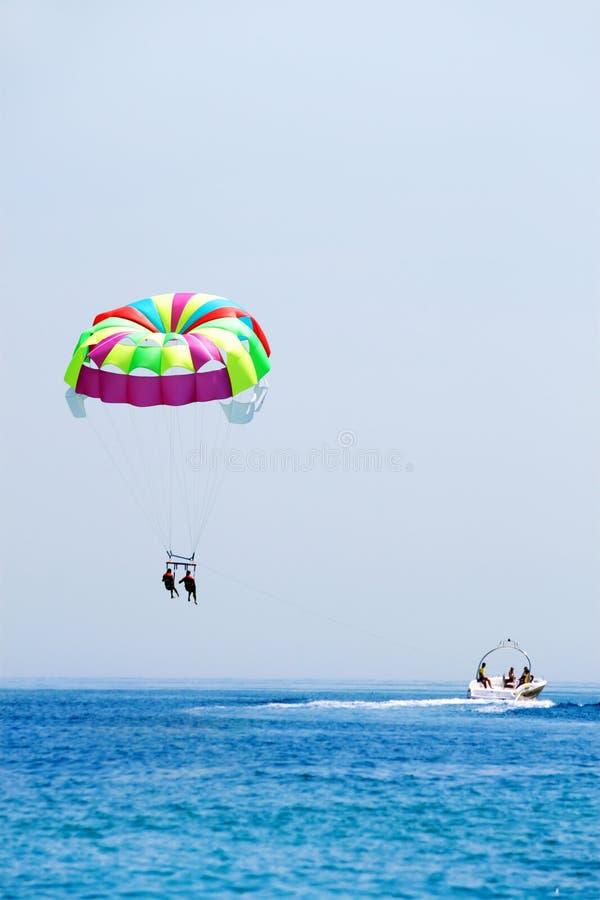 каникула parasailing стоковое изображение rf